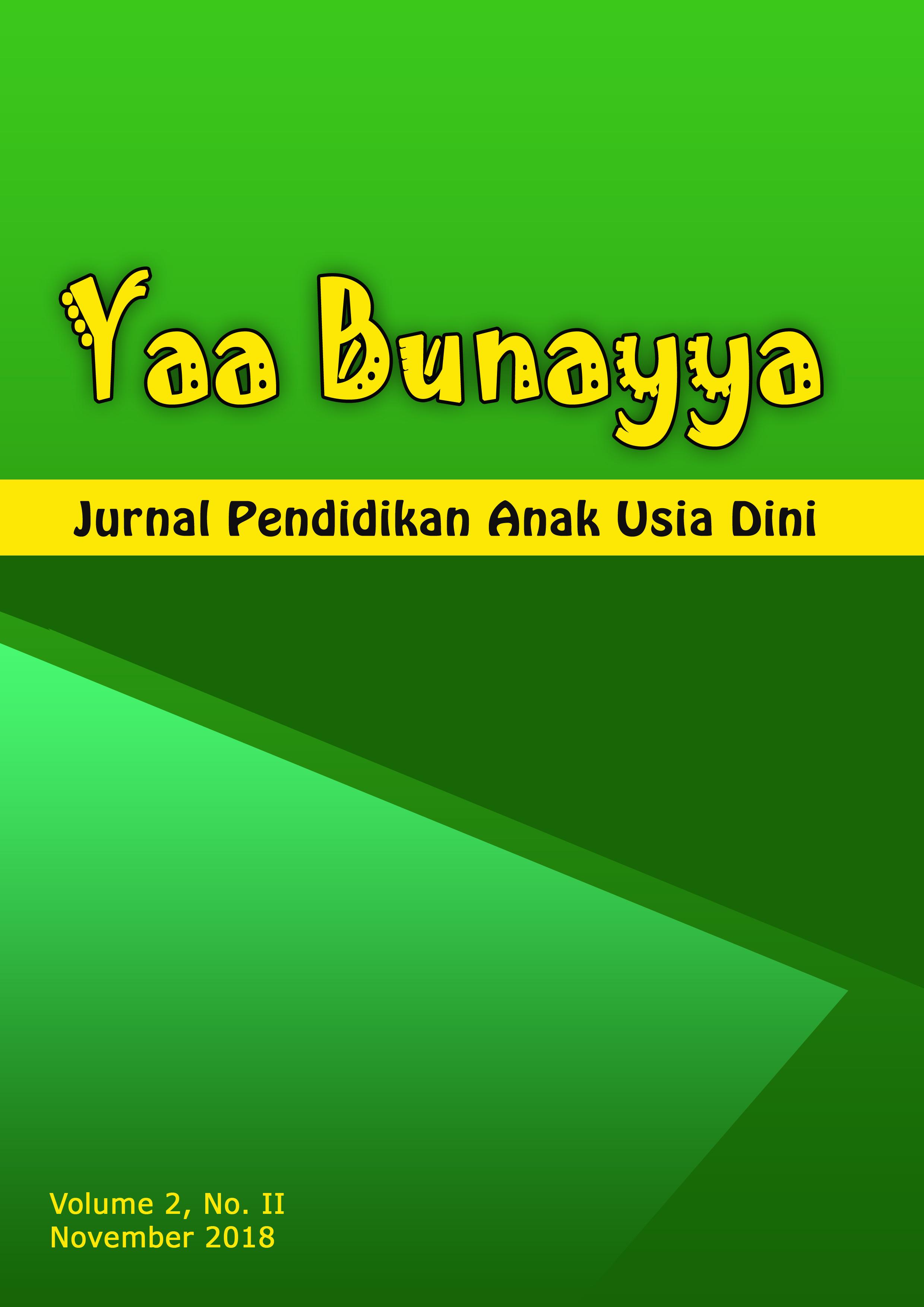 Yaa Bunayya Jurnal Pendidikan Anak Usia Dini